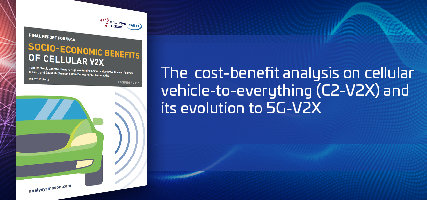The cost-benefit analysis on cellular vehicle-to-everything (C2-V2X) and its evolution to 5G-V2X